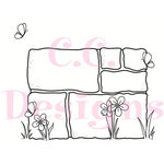 CC Designs - Swiss Pixie Collection - Cling Mounted Rubber Stamps - Stone Wall