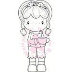 CC Designs - Swiss Pixie Collection - Cling Mounted Rubber Stamps - Coffee Birgitta