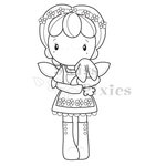 CC Designs - Swiss Pixie Collection - Cling Mounted Rubber Stamps - Spring Birgitta