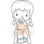 CC Designs - Swiss Pixie Collection - Cling Mounted Rubber Stamps - Birgitta Blowing Hearts