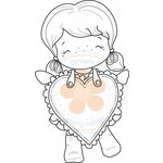CC Designs - Swiss Pixie Collection - Cling Mounted Rubber Stamps - Lula Big Heart