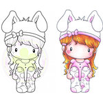 CC Designs - Swiss Pixie Collection - Cling Mounted Rubber Stamps - Bunny Lucy