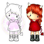 CC Designs - Swiss Pixie Collection - Cling Mounted Rubber Stamps - Devilish Lucy