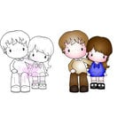 CC Designs - Swiss Pixie Collection - Cling Mounted Rubber Stamps - Siblings