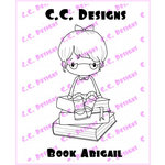 CC Designs - Swiss Pixie Collection - Cling Mounted Rubber Stamps - Book Abigail