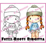 CC Designs - Swiss Pixie Collection - Cling Mounted Rubber Stamps - Fuzzy Boot Birgitta