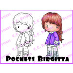 CC Designs - Swiss Pixie Collection - Cling Mounted Rubber Stamps - Pockets Birgitta