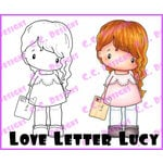 CC Designs - Swiss Pixie Collection - Cling Mounted Rubber Stamps - Love Letter Lucy