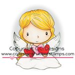 CC Designs - Swiss Pixie Collection - Cling Mounted Rubber Stamps - Angel Wings