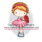 CC Designs - Swiss Pixie Collection - Cling Mounted Rubber Stamps - Rose
