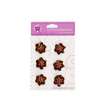 Creative Charms - Vintage Poppies Collection - Vintage Sequin Flower Embellishments - Brown, CLEARANCE