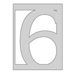 The Crafter's Workshop - Die Cutting Template - Number 6