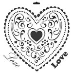 The Crafter's Workshop - 12 x 12 Doodling Templates - Heart
