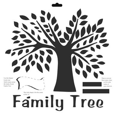 The Crafter's Workshop - 12 x 12 Doodling Templates - Family Tree