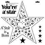 The Crafter's Workshop - 12 x 12 Doodling Templates - Star