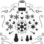 The Crafter's Workshop - 12 x 12 Doodling Templates - Snowflake