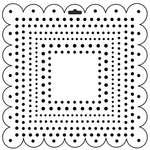 The Crafter's Workshop - 12 x 12 Doodling Templates - Square Dots