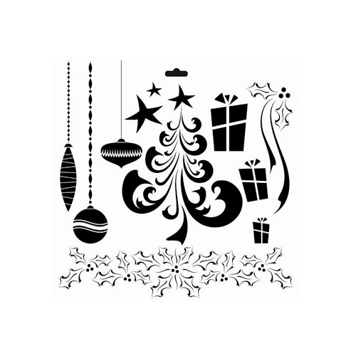 The Crafter's Workshop - Christmas - 6 x 6 Doodling Templates - Merry Doodles