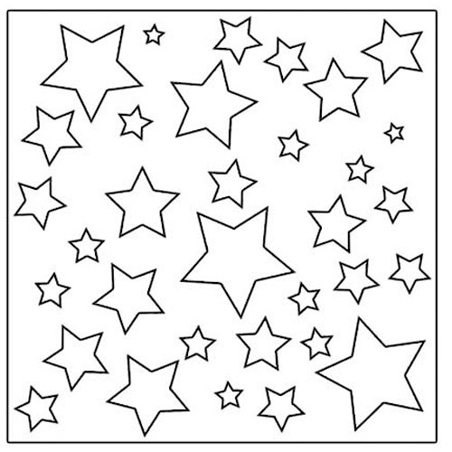 The Crafter's Workshop - 12 x 12 Doodling Templates - Twinkle Twinkle