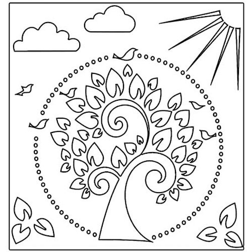 The Crafter's Workshop - 12 x 12 Doodling Templates - Tree of Life