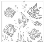 The Crafter's Workshop - 12 x 12 Doodling Templates - Fishies