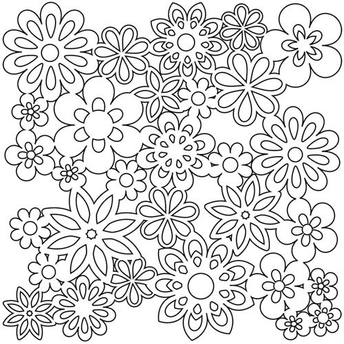 The Crafter's Workshop - 12 x 12 Doodling Templates - Gathered Flowers