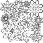 The Crafter's Workshop - 12 x 12 Doodling Templates - Flower Shower