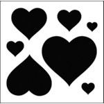 The Crafter's Workshop - 12 x 12 Basic Templates - Hearts