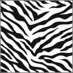 The Crafter's Workshop - 12 x 12 Doodling Templates - Zebra Print