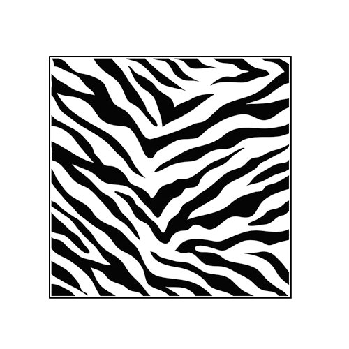 The Crafter's Workshop - 6 x 6 Doodling Templates - Mini Zebra Print