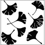 The Crafter's Workshop - 12 x 12 Doodling Templates - Ginkgo Leaves