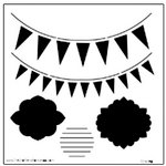The Crafter's Workshop - 12 x 12 Doodling Templates - Circus Banners