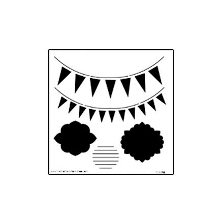 The Crafter's Workshop - 6 x 6 Doodling Templates - Mini Circus Banners