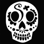 The Crafter's Workshop - Balzer Bits - Doodling Template - Sugar Skull
