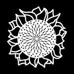 The Crafter's Workshop - Rhonda's Fragments - Doodling Template - Sunflower Fragments