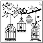 The Crafter's Workshop - 12 x 12 Doodling Templates - Birds of a Feather