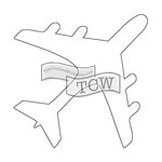 The Crafters Workshop - Rhonda Fragments - Doodling Template - Airplane Fragments