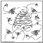 The Crafter's Workshop - 12 x 12 Doodling Templates - Busy Bees