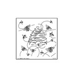 The Crafter's Workshop - 6 x 6 Doodling Templates - Mini Busy Bees