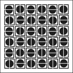The Crafter's Workshop - 12 x 12 Doodling Templates - Circles in Squares