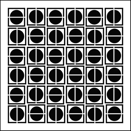 The Crafter's Workshop - 6 x 6 Doodling Templates - Mini Circles in Squares
