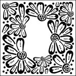 The Crafter's Workshop - 6 x 6 Doodling Templates - Mini Flower Frame