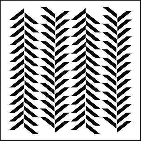 The Crafter's Workshop - 6 x 6 Doodling Templates - Mini Herringbone
