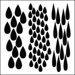 The Crafter's Workshop - 6 x 6 Doodling Templates - Mini Rain