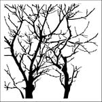 The Crafter's Workshop - 6 x 6 Doodling Templates - Mini Branches Reversed