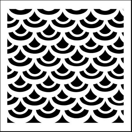 The Crafter's Workshop - 12 x 12 Doodling Templates - Fish Scales