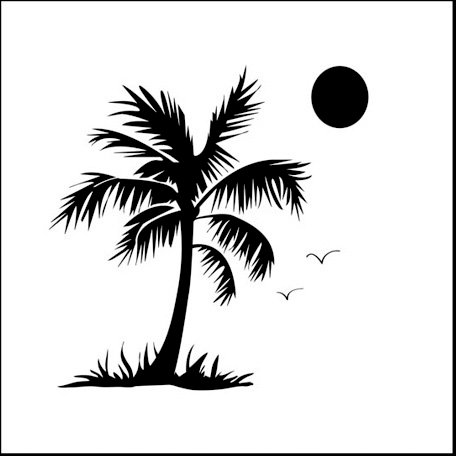 The Crafter's Workshop - 6 x 6 Doodling Templates - Mini Palm Tree