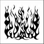 The Crafter's Workshop - 12 x 12 Doodling Templates - Flames