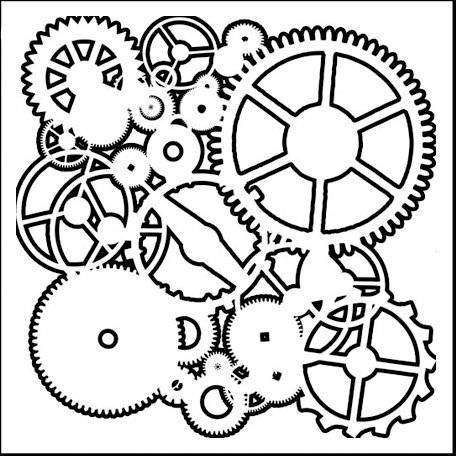 The Crafter's Workshop - 6 x 6 Doodling Templates - Mini Gears