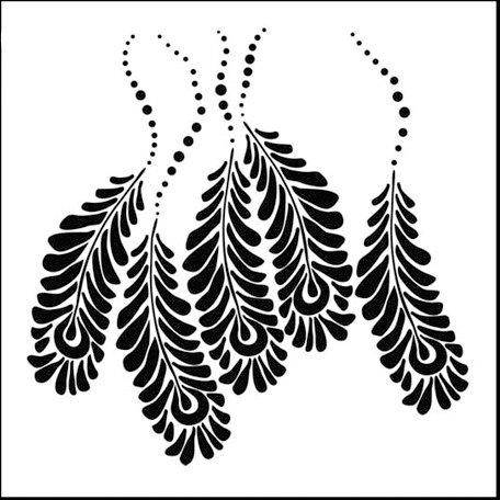 The Crafter's Workshop - 6 x 6 Doodling Templates - Mini Peacock Feathers